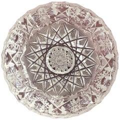 Small Bohemian Crystal Ashtray
