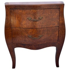 Small Bombé Burlwood Two-Drawer Chest Of Drawers, Northern Italy