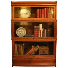 Small Bookcase in Light Oak Said Stacking Bookcase of Three Elements- Globe Wern