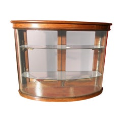 Small Bow Front Display Cabinet