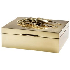 Small Brass Beetle Secret Box
