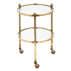 Small Brass Vintage Bar Cart