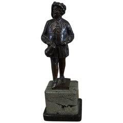 "Small Bronze by Ernst Beck, ""The Drinker"" or Literary Figure of Falstaff"