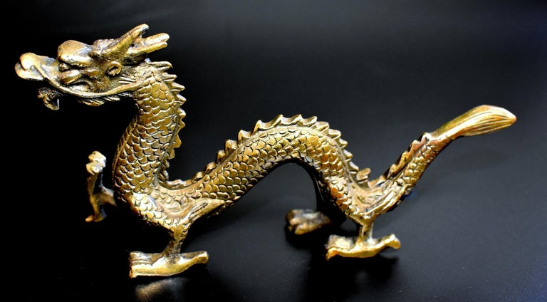 Qing Small Bronze Dragon For Sale
