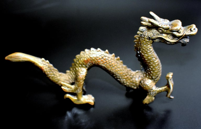 Asian Small Bronze Dragon For Sale