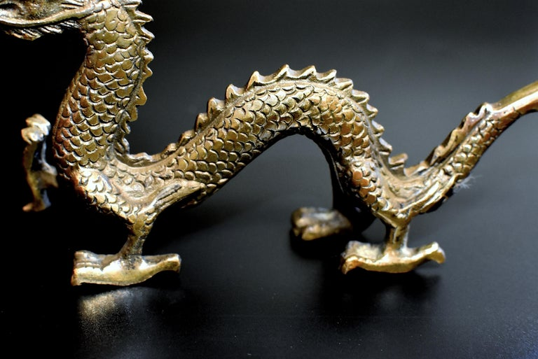 20th Century Small Bronze Dragon For Sale