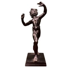 Small Bronze Sculpture of the Dancing Faun of Pompeii