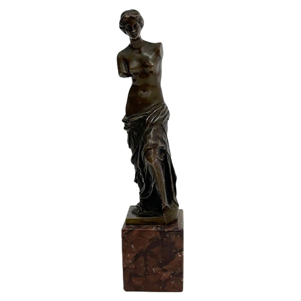 Small Bronze Statue of Venus De Milo
