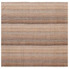 Small Brown Modern Persian Kilim Rug. Size: 5 ft 1 in x 5 ft 3 in