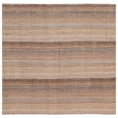 Small Brown Modern Persian Kilim Rug. Size: 5 ft 1 in x 5 ft 4 in