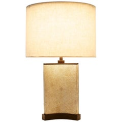 Small Bruno Lamp in Shagreen and Bronze by Elan Atelier