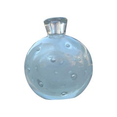 Small Bubble Vase 1940 Murano Glass Attributed to Barovier Air Bubbles Inside