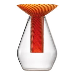 Small Calici Vase in Murano Glass by Federico Peri