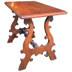 Small Carved Spanish Walnut Side Table