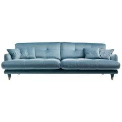 Small Century Upholstered Sofa in Velvet by Dainelli Studio