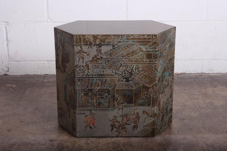 Bronze Small Chan Side Table by Philip and Kelvin LaVerne