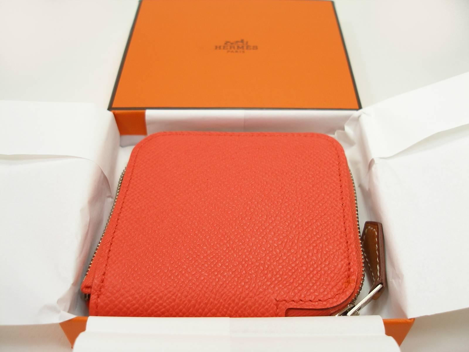 57323da94e91 ... coupon small change coin purse hermés silkin etriers 654 orange poppy  brand new for 5aec0 469b5 purchase aaa quality hermes ...