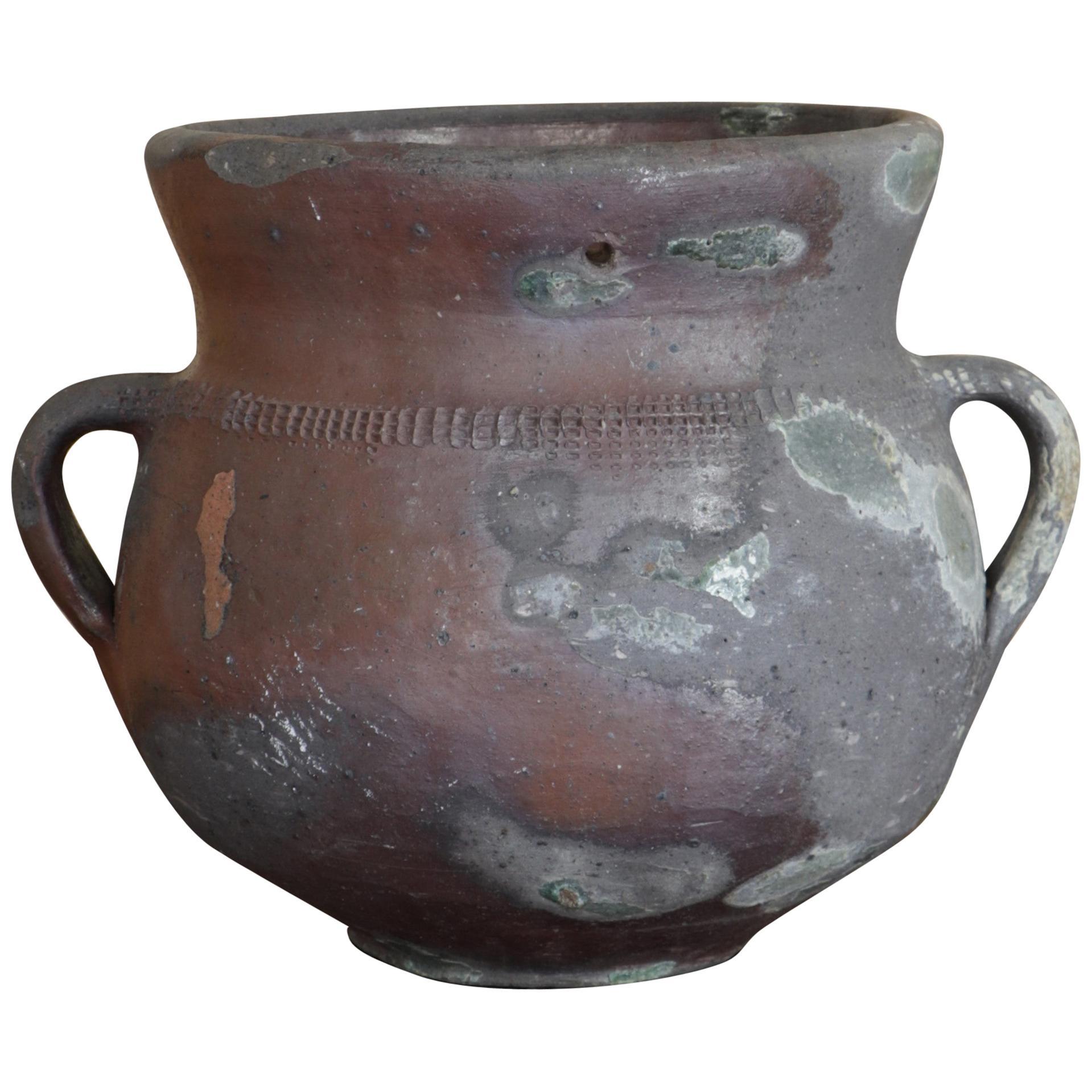 "Small ""Charnier"", Terracotta Jar, 19th Century"
