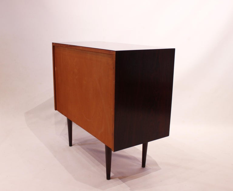 Scandinavian Modern Small Chest of Drawers in Rosewood of Danish Design, 1960s For Sale