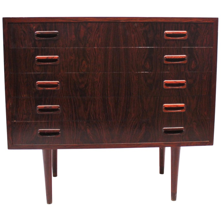 Small Chest of Drawers in Rosewood of Danish Design, 1960s For Sale