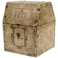 Small Chest, Polychromed Wood, Metal, 17th Century