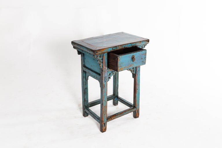 20th Century Small Chinese Console Table with Drawer For Sale