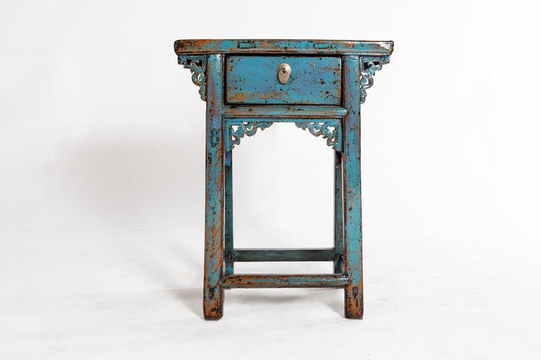 Small Chinese Console Table with Drawer For Sale 1