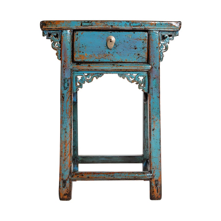 Small Chinese Console Table with Drawer For Sale