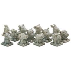 Small Chinese Zodiac Head Busts