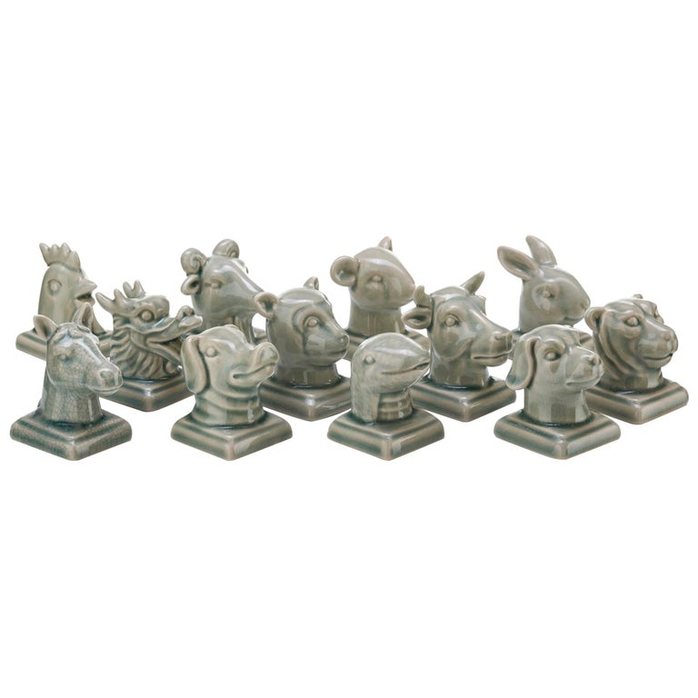 Small Chinese Zodiac Head Busts For Sale