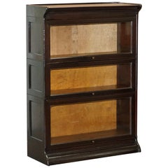 Small circa 1930 Globe Wernicke Mahogany Modular Antique Stacking Legal Bookcase