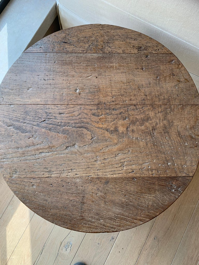 Chestnut Small Circular Side Table 19th Century Cricket Table For Sale