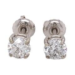 Small Classic Diamond Stud Earrings