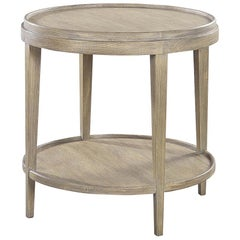 Small Classic Round End Table, Greyed