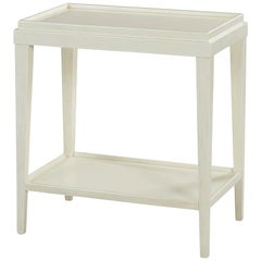 Small Classic Two-Tier Side Table, Drift White
