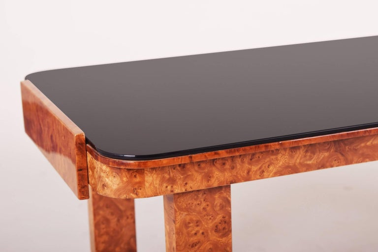 Small table, Czechoslovakia, material walnut Period: 1920-1929.  We guarantee safe a the cheapest air transport from Europe to the whole world within 7 days. The price is the same as for ship transport but delivery time is really shorter. We create