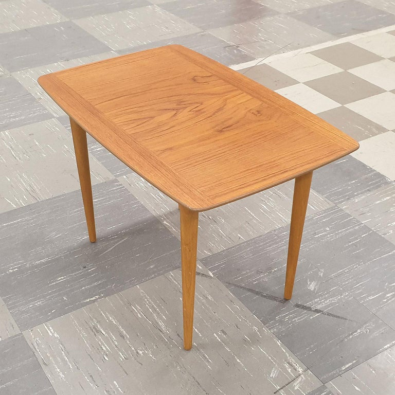 Small Teak Side Table.Small Coffee Teak Table Side Table