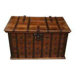 Small Colonial Teak Box Coffee Table