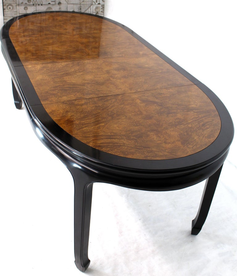 Small Wood Dining Tables: Small Compact Round To Oval Burl Wood Dining Dinette Table