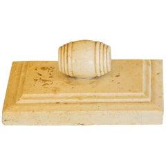 Small Cream Marble Leaf Press, circa 1850