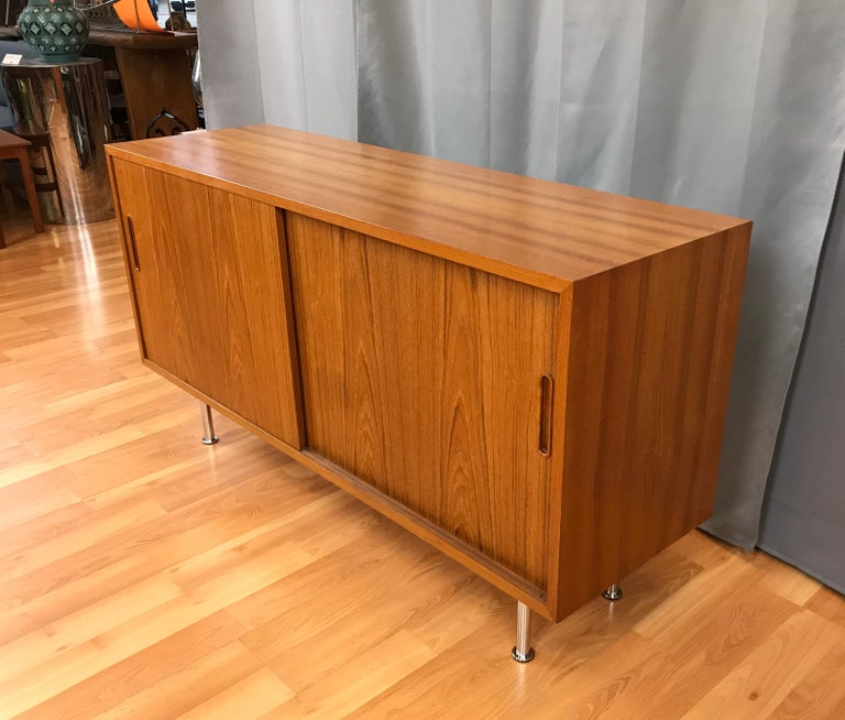 Danish Small Credenza or Sideboard in Teak by Paul Hundevad For Sale