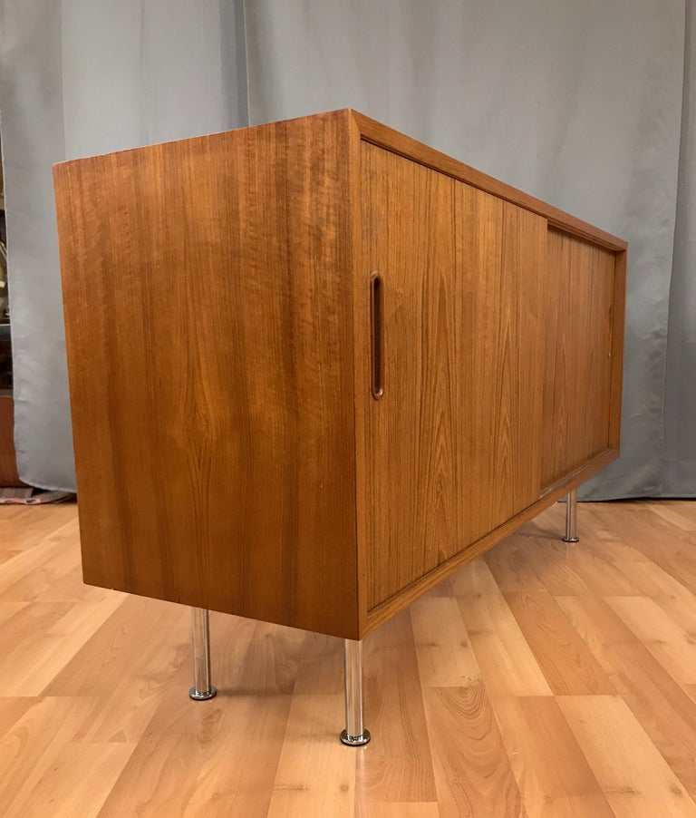 Mid-20th Century Small Credenza or Sideboard in Teak by Paul Hundevad For Sale