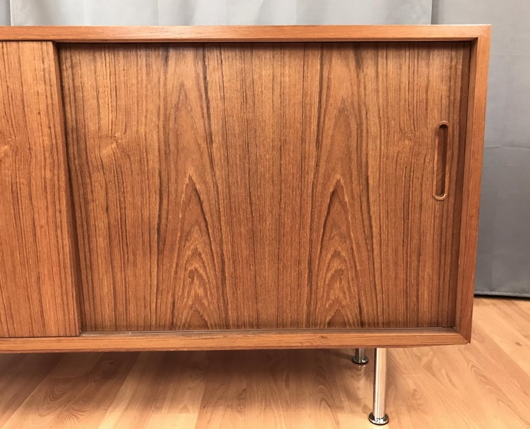 Small Credenza or Sideboard in Teak by Paul Hundevad For Sale 1