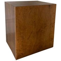 Small Cube Sidetable 18th Century Walnut