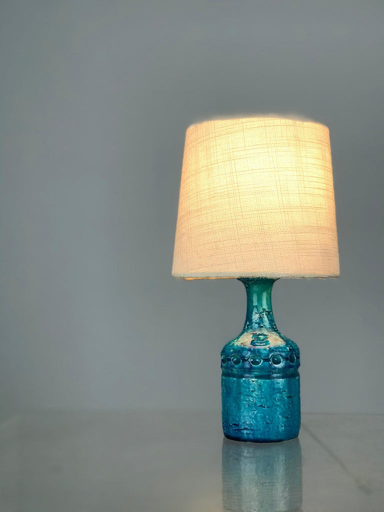 Small Danish Desk Ceramic Table Lamp by Bent Nordsted for Lyksaer Belysning For Sale 4