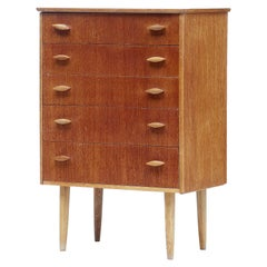 Small Danish Mid-20th Century Teak Chest of Drawers