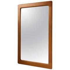 Small Danish Modern Teak Mirror by Pedersen & Hansen