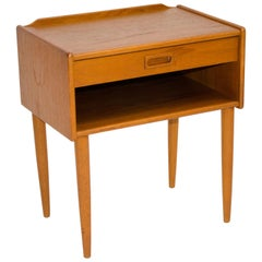 Small Danish Teak Night Stand or End Table