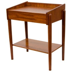 Small Danish Teak Nightstand or End Table