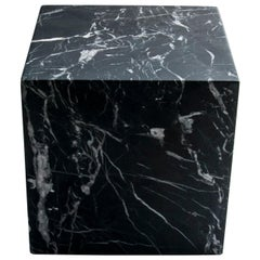 Small Decorative Paperweight Cube in Black Marquina Marble